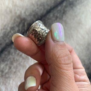 { John Hardy } Diamond Chain Hammer Saddle Ring